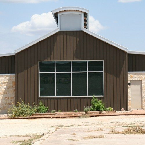 Exterior Side View of Building | Bertram Library | Commercial Projects | Anchor-Ventana