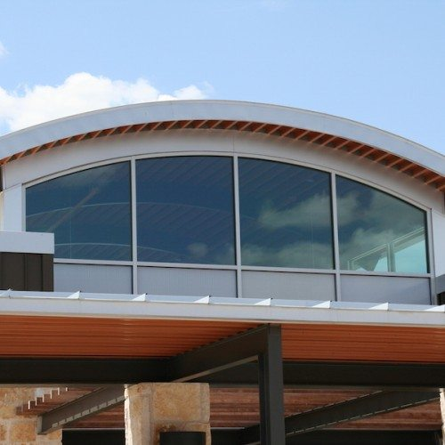 Exterior View of Windows | Bertram Library | Commercial Projects | Anchor-Ventana
