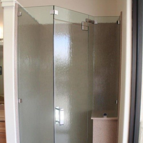 Frameless Custom Corner Shower Enclosure | Shower Gallery | Anchor-Ventana Glass
