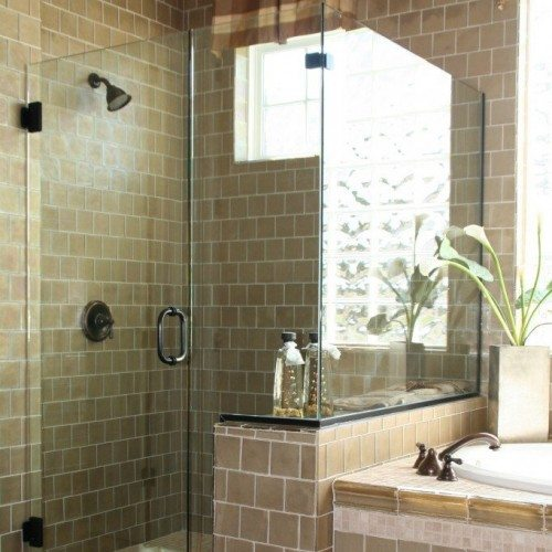 Frameless Shower - Bathroom - Eclectic | Shower Gallery | Anchor-Ventana Glass