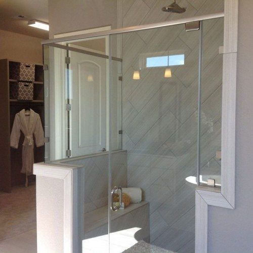 Semi-Frameless Shower | Shower Gallery | Anchor-Ventana Glass