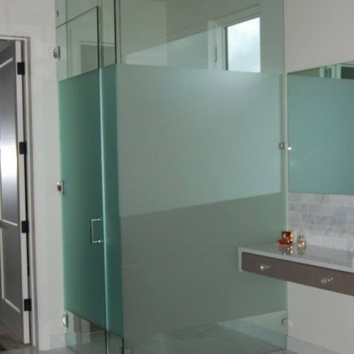Frameless Glass Shower Door - Modern Bathroom | Shower Gallery | Anchor-Ventana Glass