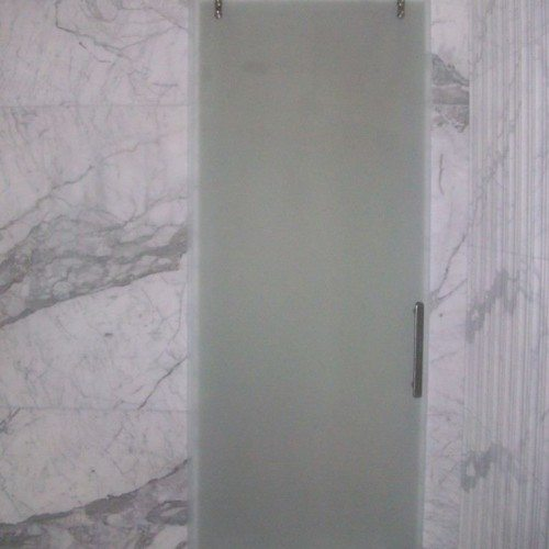 Interior Glass Sliding Door - Frosted Glass Door - Marble Walls | Shower Gallery | Anchor-Ventana Glass