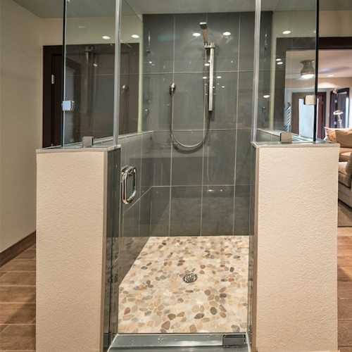 Frameless Glass Shower | Shower Gallery | Anchor-Ventana Glass