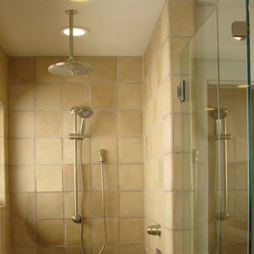 Frameless Corner Shower Enclosure in Bathroom | Shower Gallery | Anchor-Ventana Glass