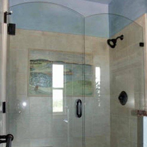 Frameless Shower - Bathroom - Traditional | Shower Gallery | Anchor-Ventana Glass