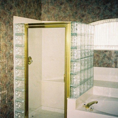 Nubio Glass Block and Framed Shower | Shower Gallery | Anchor-Ventana Glass