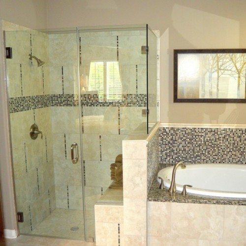 Frameless Corner Shower Enclosure | Shower Gallery | Anchor-Ventana Glass
