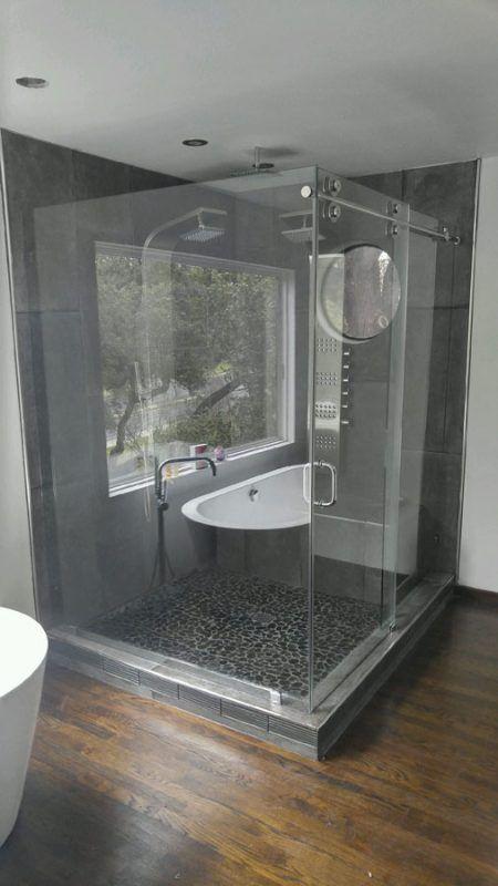 Sliding Shower Enclosures   Residential Gallery   Anchor-Ventana Glass