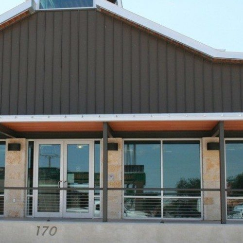 Exterior View of Commercial Storefront & Doors on Building | Commercial Storefronts | Commercial Products | Anchor-Ventana Glass